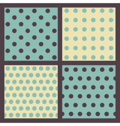 set colored dotted patterns vector image