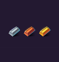 set icons for games vector image