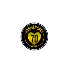 Seventy years anniversary badge vector