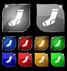 socks icon sign Set of ten colorful buttons with vector image