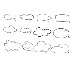 speach cloud vector image vector image