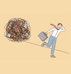 stress overload burnout at work concept vector image
