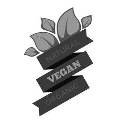 vegan organic food leaves isolated icon vegetarian vector image