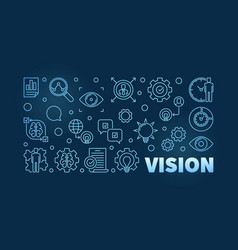 vision blue linear business vector image