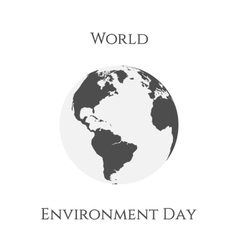 World Environment Day Earth Background Template vector