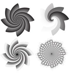 Flower swirls vector