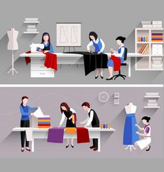 Sewing Studio Design Template vector image vector image