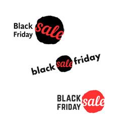 simple black friday sale logo vector image vector image