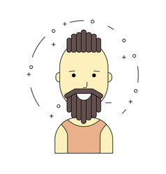 smiling man character minimalism cartoon flat vector image