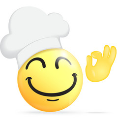 Chef emoticon vector image