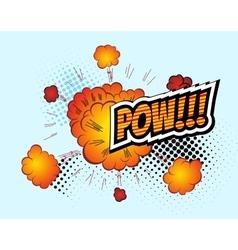 Pow Retro Comic Speech Bubble Cartoon vector image vector image