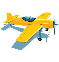 Sport airplane vector image