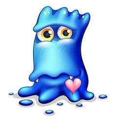 A loving blue monster vector image