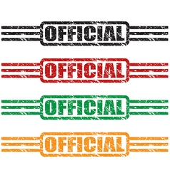official stamp set vector image vector image