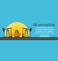 oil extraction banner horizontal concept vector image