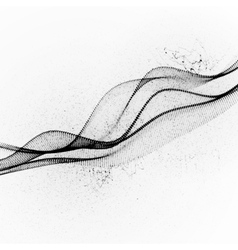 3d ink stylized digital wave vector