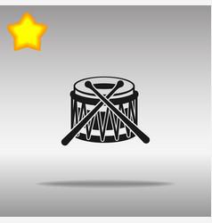 drum black icon button logo symbol vector image vector image