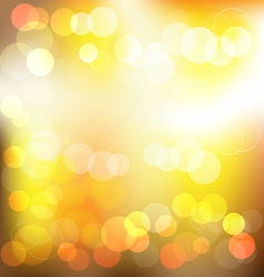 Gloden elegant abstract background with bokeh vector image vector image