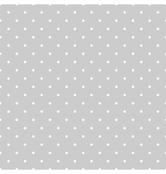 Tile pattern white polka dots on grey background vector image