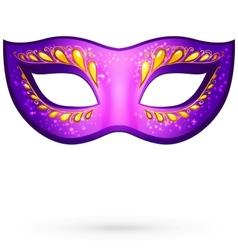 violet venitian carnival mask vector image vector image
