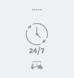 247 steady concept symbol - web icon vector image