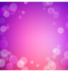Abstract bokeh sparkles on blurred background vector image vector image