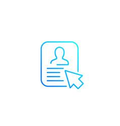 Account icon line vector