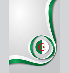 Algerian flag wavy background vector