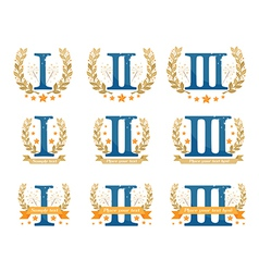 Awards emblems set vector