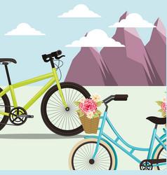 bike repair and shop vector image