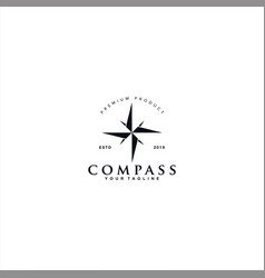 Black and white compass logo vector