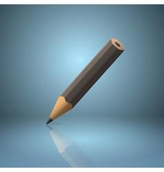 Black sharpened pencil icon vector