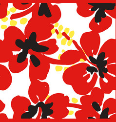 blooming poppies seamless pattern summer flowers vector image