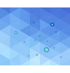 Blue geometric grunge background vector