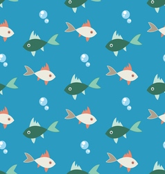 Bright colored seamless pattern of colorful fish vector