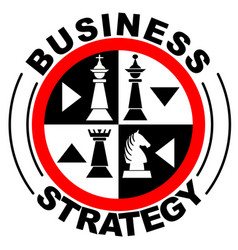 business strategy banner in with chess pieces in vector image
