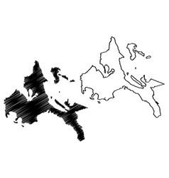 calabarzon region map vector image