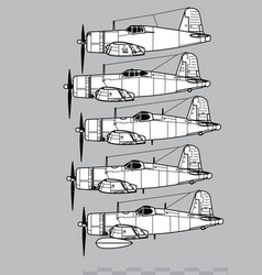 chance vought f4u corsair vector image
