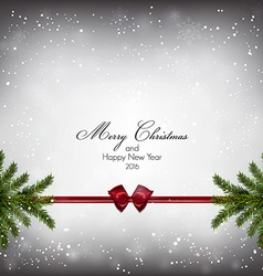 christnas background with firt twigs 3 vector image vector image