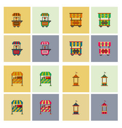 circus equipment icons vector image