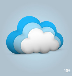 Cloud glossy icon vector