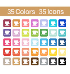 coffee cup printable icons vector image