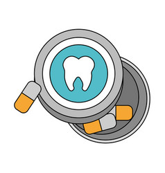 Color image cartoon capsules for dental pain vector