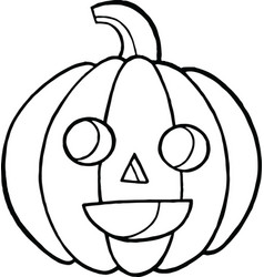 Coloring page and doodle sketch with pumpkin for vector