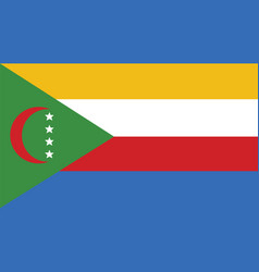 comoros flag for independence day and infographic vector image