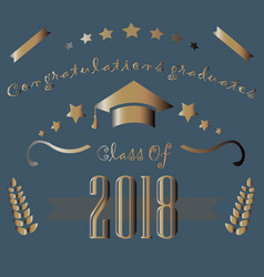 congratulations graduates of year 2018 vector image