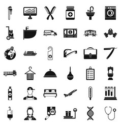 Craft icons set simple style vector