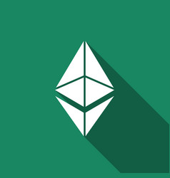 cryptocurrency coin ethereum eth icon isolated vector image