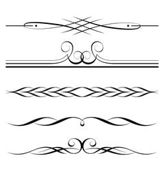 Decorative elements border vector