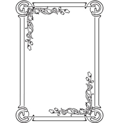 decorative frame for the page vector image